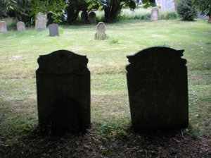 Jonathan and Ruth Scott's gravestones