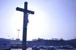 Jesus outside Carrefour